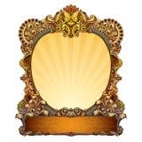 Frame ornamentado desenhado mão Fotos de Stock