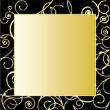Frame ornamentado do ouro Fotografia de Stock