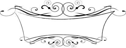 Frame ornamentado do vetor preto e branco Foto de Stock Royalty Free