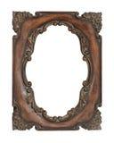 Frame ornamentado do vintage sobre o fundo branco Fotografia de Stock