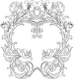 Frame ornamentado real Foto de Stock Royalty Free