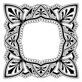 Frame with ornamental design. Ornamental design, digital artwork royalty free illustration