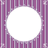 Frame ornaments. With purple line royalty free illustration