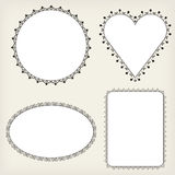 Frame ornaments. For photo or mirror royalty free illustration