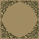 Frame. Ornate battered empty picture frame Royalty Free Stock Image