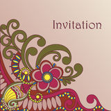 Frame ornate card announcement Royalty Free Stock Image
