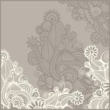 Frame ornate card announcement Stock Photography
