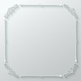 Frame ornate vintage paper cut background Stock Photo