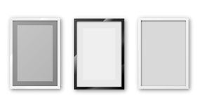 A4 frame. A6 / A5 / A4 / A3 or other A Format paper Frames with different design and  thin borders. Vector illustration Stock Images