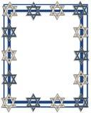 Frame ou beira judaica da estrela Fotografia de Stock Royalty Free