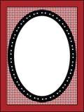 Frame ou Tag do Valentim com guarnição do guingão Imagens de Stock Royalty Free