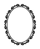 Frame oval Stock Image