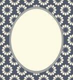 Frame oval com flores Fotografia de Stock Royalty Free
