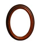 Frame oval de madeira com trajeto Fotos de Stock