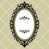 Frame oval decorativo do vintage Fotos de Stock Royalty Free
