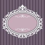 Frame oval decorativo do vintage Imagem de Stock