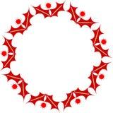 Frame oval do Natal Imagens de Stock