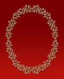 Frame oval do redemoinho do vintage ilustração royalty free