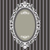 Frame oval do vintage Imagens de Stock Royalty Free