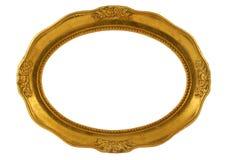 Frame oval dourado Foto de Stock Royalty Free