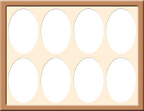 Frame with oval mat. A frame design with oval cut out mats Royalty Free Stock Photography