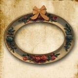 Frame oval velho vazio Imagens de Stock Royalty Free