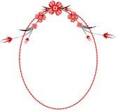 Frame oval vermelho Fotografia de Stock Royalty Free