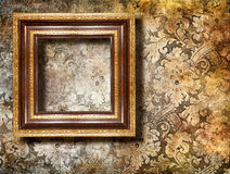 Frame over wall Royalty Free Stock Image