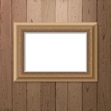 Frame over wooden background Stock Images