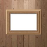 Frame over wooden background Stock Images