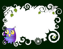 Frame with owl Stock Image