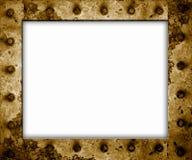 Frame oxidado do metal isolado foto de stock
