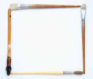 Frame of Paint Brushes Royalty Free Stock Photos