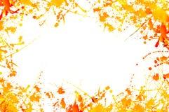 Frame of Paint Splashes Stock Images