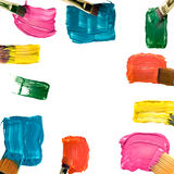 Frame from paintbrushes, construction Stock Image