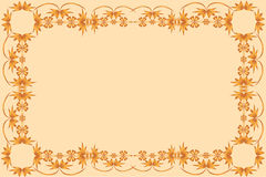 Frame of painted ornament on a pale background Royalty Free Stock Image