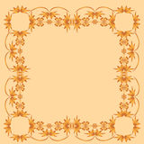 Frame of painted ornament on a pale background Royalty Free Stock Photography