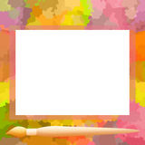 Frame and painting brush Stock Photos