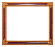 Frame for painting and picture. Antique golden blank frame for painting and picture over white background Royalty Free Stock Images