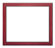 Frame for painting and picture. Woody red brown blank frame for painting and picture over white background Royalty Free Stock Image