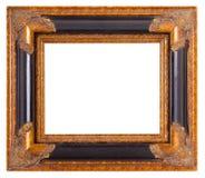 Empty gold museum frames Stock Photos