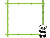 Frame and panda Stock Photos