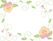 Frame of the pansies Royalty Free Stock Photo