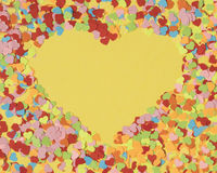Frame of paper hearts Royalty Free Stock Photography
