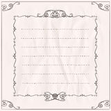 Frame on a paper with place for text. Stock Photos