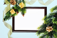 Frame paper wooden Stock Images