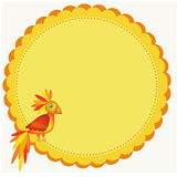 Frame with parrot illustration Royalty Free Stock Images