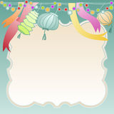 Frame with party decoration Stock Photos