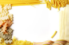 Frame of pasta Royalty Free Stock Images