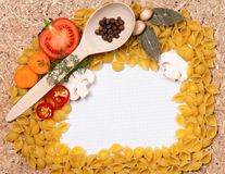 Frame of pasta Stock Photography